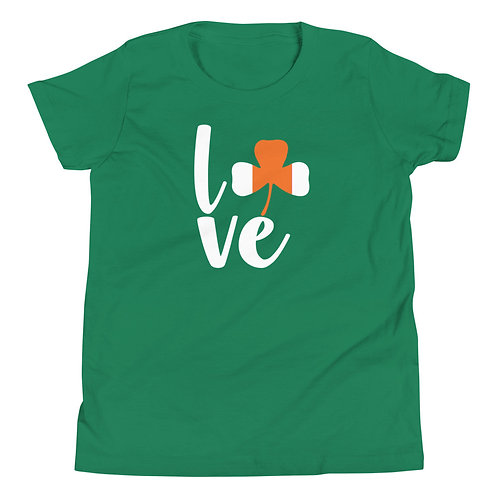LOVE with Shamrock Youth Short Sleeve T-Shirt