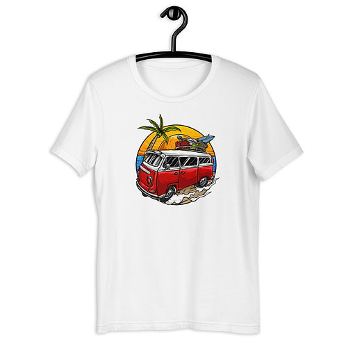 Vintage Beach Day and Surfing Short-Sleeve T-Shirt