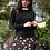 Thumbnail: Gold Polka Dot and Black Pencil Skirt