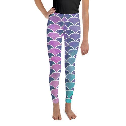Mermaid Scales Youth Leggings