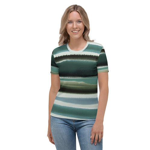 Watercolor Stripe Fitted Shirt