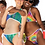 Thumbnail: Tie Dyed/Colorful Stripe Reversible Bikini
