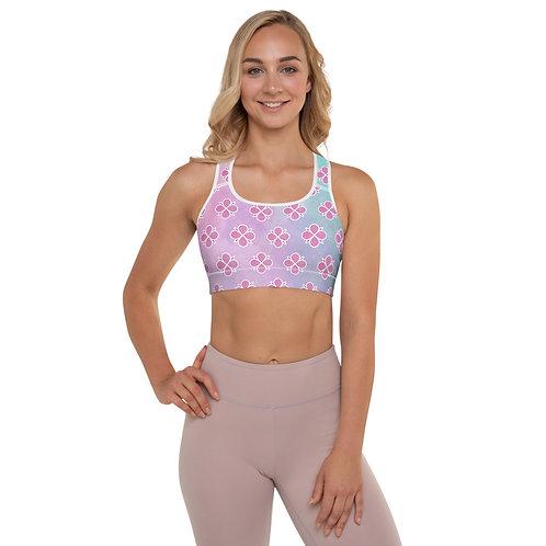 Pink Posie Padded Sports Bra