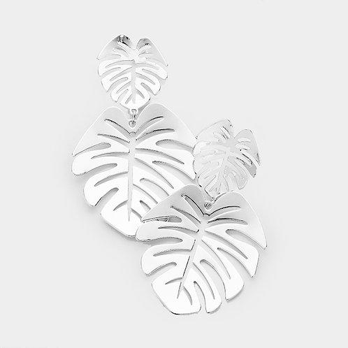 Tropical Leaf Earrings