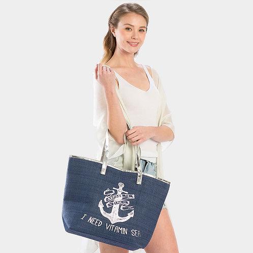 """I Need Vitamin Sea"" Tote Bag"