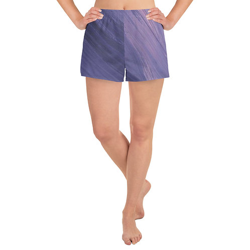 Purple Marble Women's Athletic Short Shorts