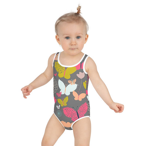 Butterfly and Floral Kids Swimsuit