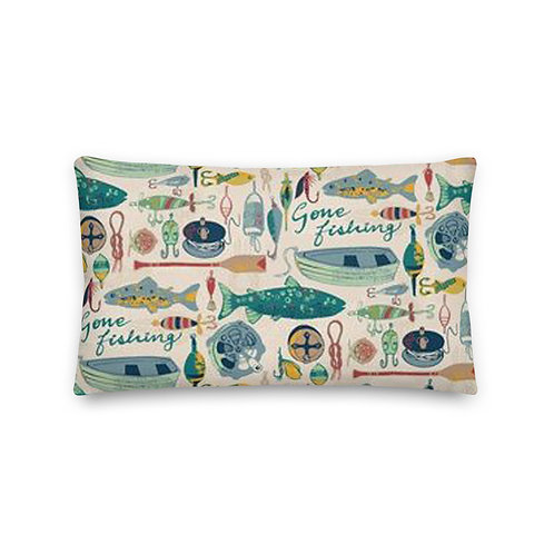 Gone Fishing Premium Pillow