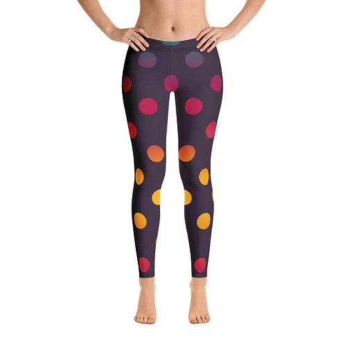 Rainbow Polka Dot Leggings