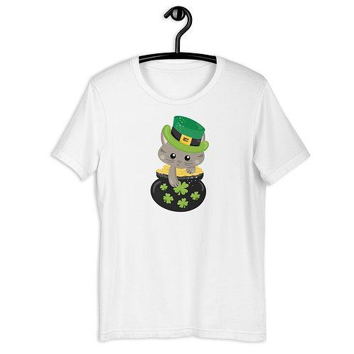 St. Patrick's Day Kitten Short-Sleeve T-Shirt