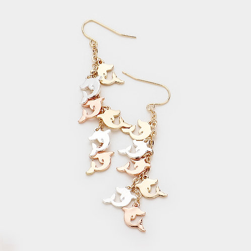 A Dolphin Pod Earrings