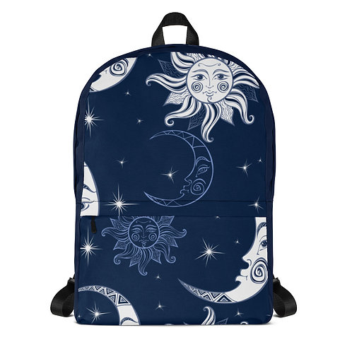 Celestial Moon and Sun Backpack