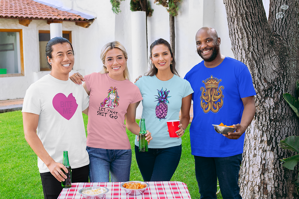 t-shirt-mockup-of-four-friends-hanging-o