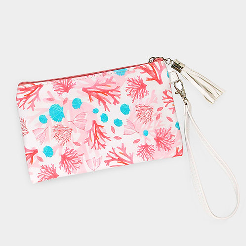 Coral Reef Wallet/Small Clutch Bag