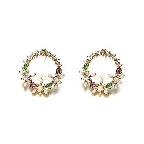 Spring Wreath Earrings