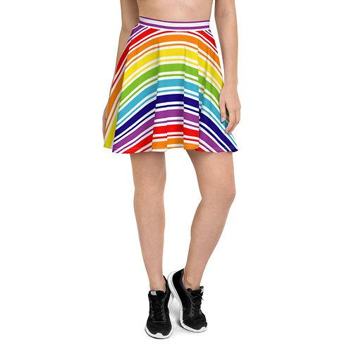 Rainbow Stripe Skater Skirt