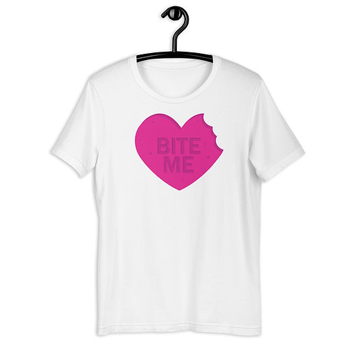 Valentine's Day Bite Me Short-Sleeve Unisex T-Shirt