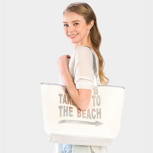 """Take me to the Beach"" Tote Bag"
