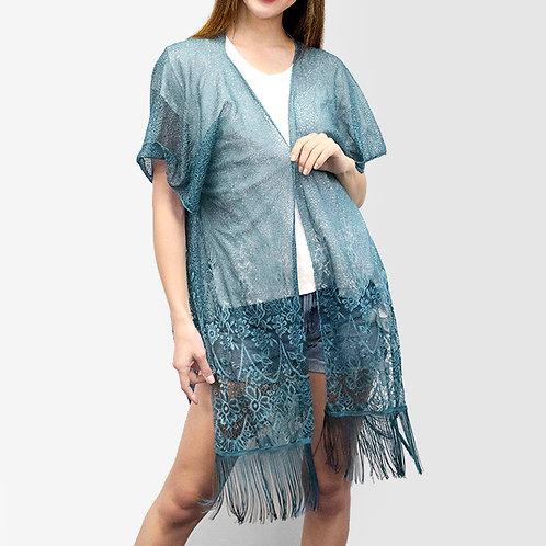 Fine Lace Fringe Kimono