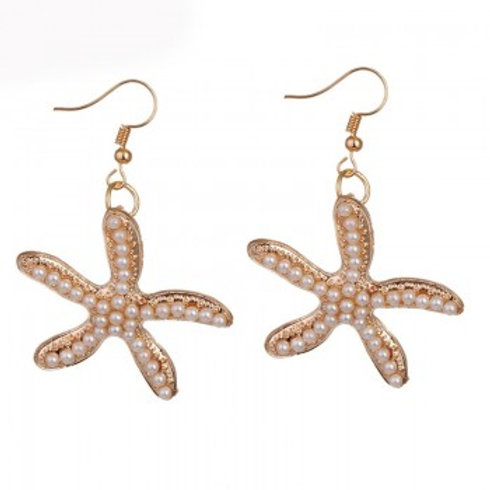 Starfish Pearl Earrings