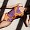 Thumbnail: Tropical Purple Leaf One-Piece Swimsuit