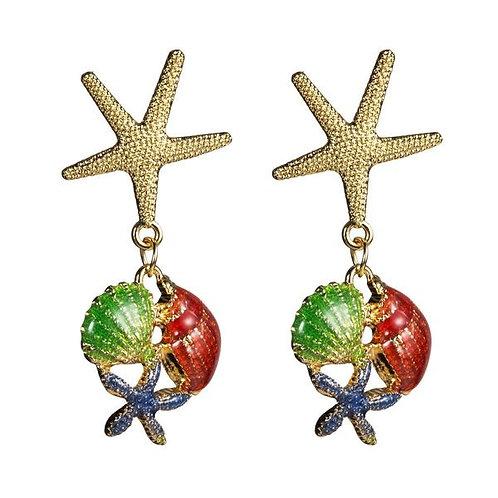 Starfish and Shells Earrings