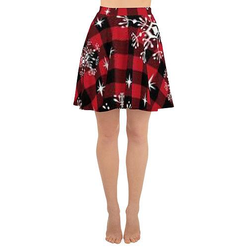 Buffalo Plaid Christmas Skater Skirt
