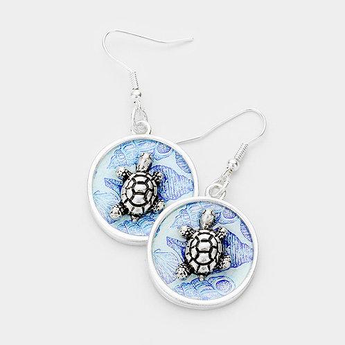 Floating Turtle Earrings