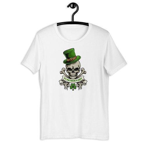 St. Patrick's Day Skull and Crossbones Short-Sleeve Unisex T-Shirt