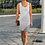 Thumbnail: Grey Striped Fitted Tank Dress