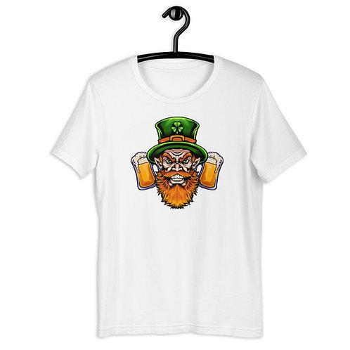 St. Patrick's Day Angry Leprechaun Short-Sleeve T-Shirt