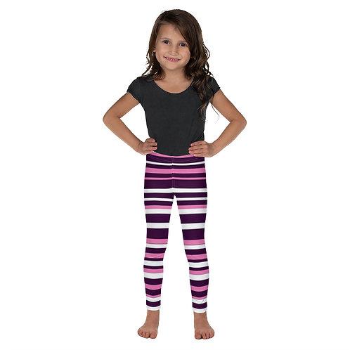 Pink Striped Kid's Leggings