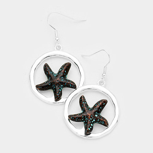 Starfish Circle Earrings