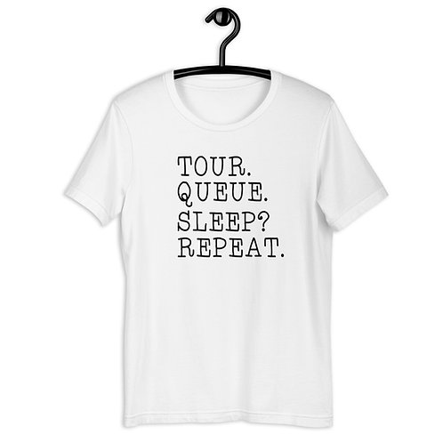 Tour Queue Sleep? Repeat Short-Sleeve T-Shirt