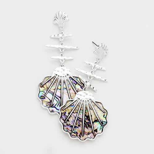 Abalone Seashell Earrings