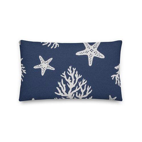 Coral and Starfish Premium Pillow