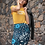 Thumbnail: Blue Floral Pencil Skirt