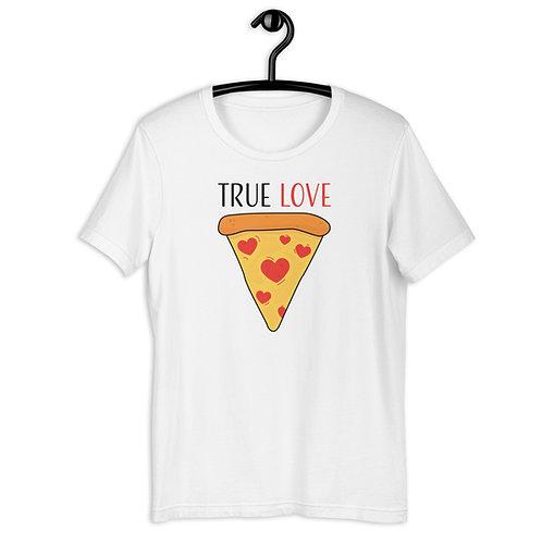 True Love Pizza Slice Short-Sleeve Unisex T-Shirt