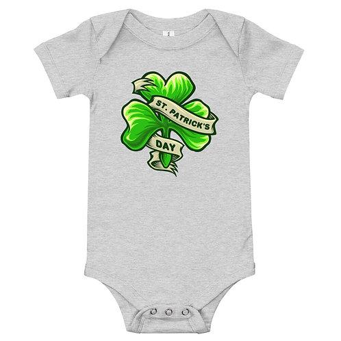 St. Patrick's Day Shamrock Baby Short Sleeve Bodysuit