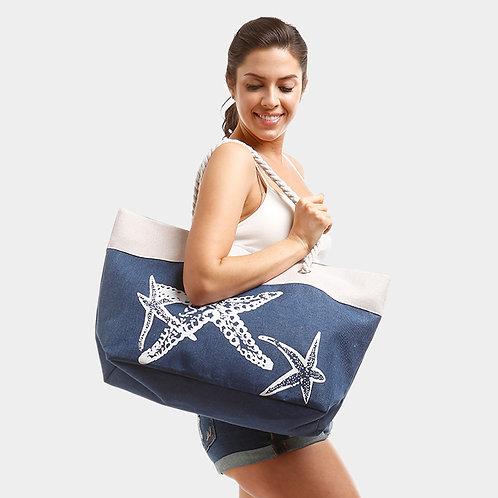 Starfish Canvas Tote Bag