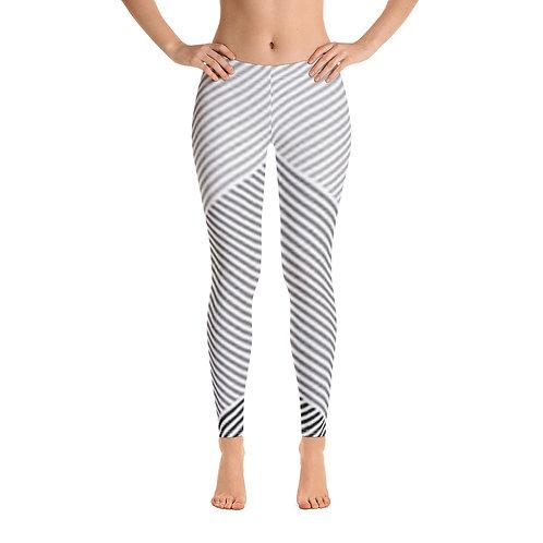 Grey Stripe and Chevron Leggings