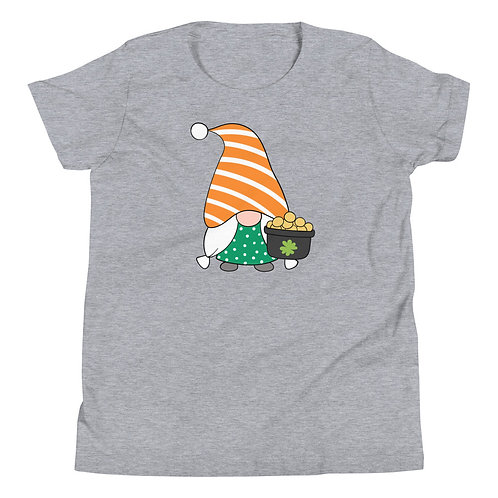 St. Patrick's Day Gnome with Pot of Gold Youth Short Sleeve T-Shirt
