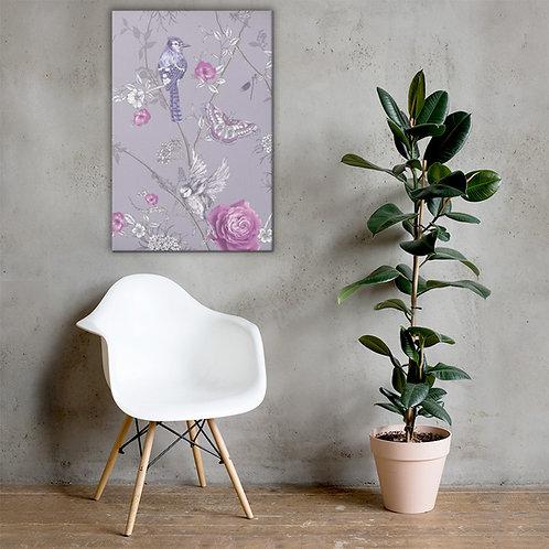 Purple Floral Canvas Art