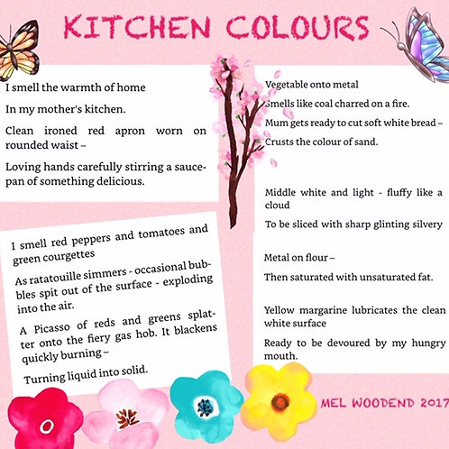 Kitchen Colours poetry print