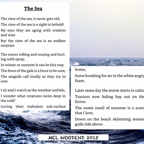 The Sea poetry print