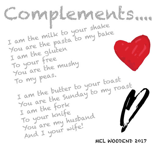 Complements poetry print