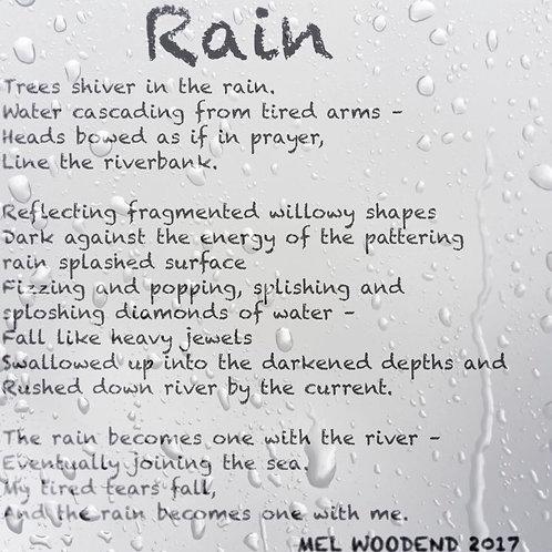 Rain poetry print