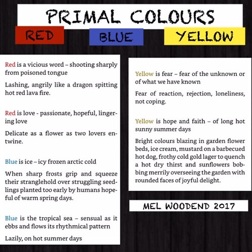 Primal Colours poetry print