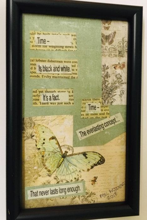 Time framed poetry art
