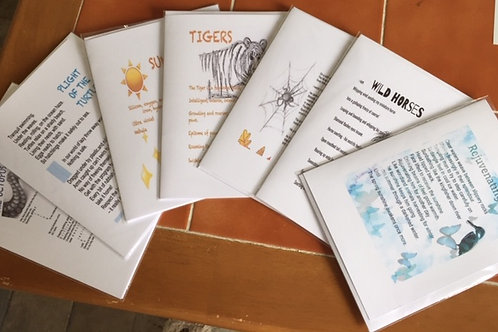Poetry Cards set of 6